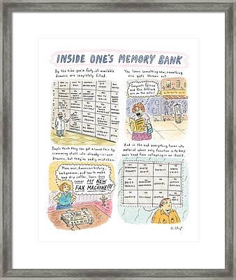 'inside One's Memory Bank' Framed Print