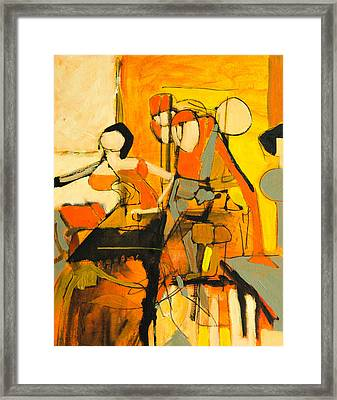 Inside Orange Framed Print by Jennifer Croom