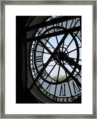 Inside Out Clock Framed Print by Stephanie Hunter