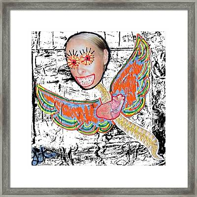 Framed Print featuring the mixed media Inside Out by Lisa Piper