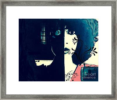 Inside/outside Girl Framed Print