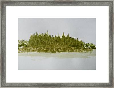 Inside Passage Islet Framed Print