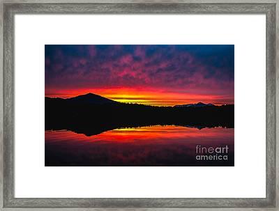 Inside Passage Sunrise Framed Print by Robert Bales