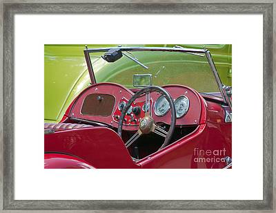 Red Mg-td Convertible  Framed Print