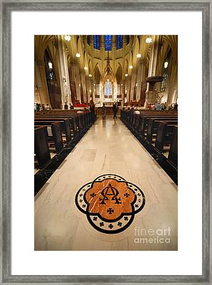 Inside St Patricks Cathedral New York City Framed Print by Amy Cicconi