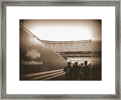 Framed Print featuring the photograph Inside The Cathedral Of Baseball by Aurelio Zucco