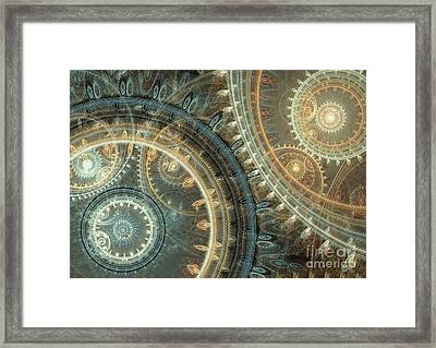 Inside The Clock Framed Print by Martin Capek
