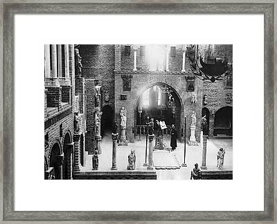 Inside The Cloisters Framed Print by Underwood Archives