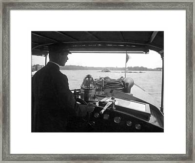 Inside The Cockpit Of A Launch Framed Print