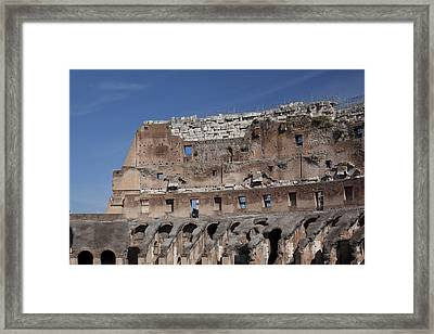 Inside The Coliseum Framed Print by Jean Macaluso