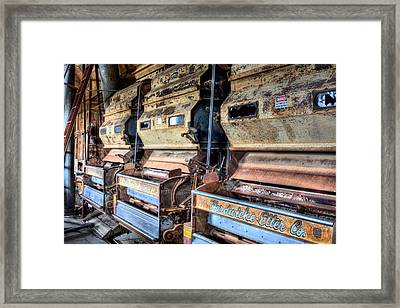 Inside The Cotton Gin Framed Print by JC Findley