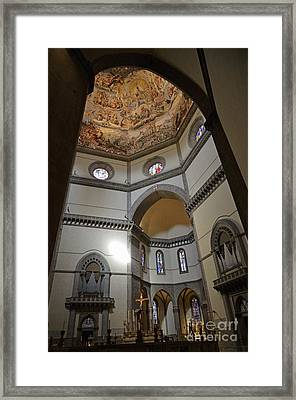 Inside The Duomo Of Florence Framed Print by Sami Sarkis