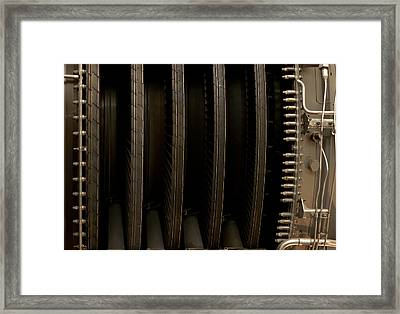 Inside The Engine Framed Print by Christi Kraft
