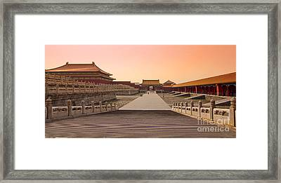 Inside The Forbidden City Framed Print by Delphimages Photo Creations