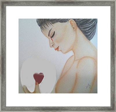 Inside The Glass Ball Painting By Saribelle Rodriguez Framed Print by Saribelle Rodriguez