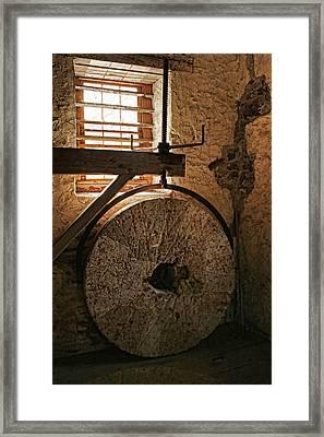 Inside The Gristmill Framed Print