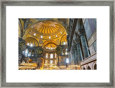 Inside The Hagia Sophia Istanbul Framed Print