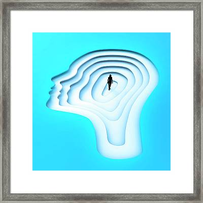 Inside The Human Mind Framed Print by Andrzej Wojcicki