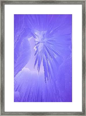 Inside The Ice Framed Print by Darren  White