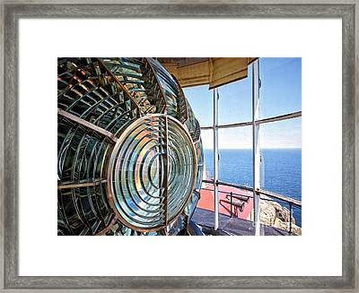 Inside The Lighthouse Framed Print by Edward Fielding