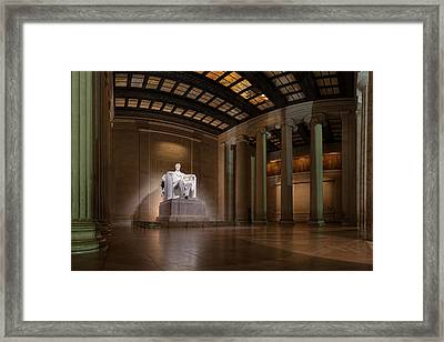 Inside The Lincoln Memorial Framed Print
