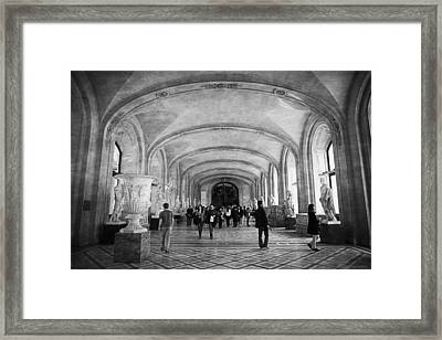 Inside The Louvre Framed Print by Maria Angelica Maira
