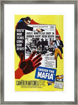 Inside The Mafia, Cameron Mitchell Framed Print by Everett