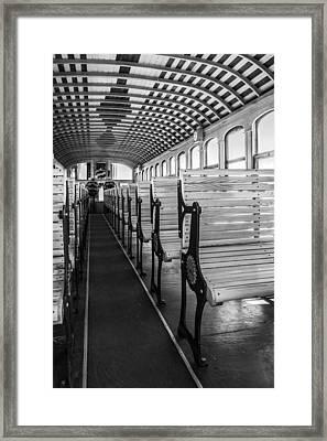Inside The Mt Washington Train Framed Print by Arkady Kunysz
