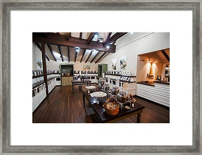 Inside The Oil And Vinegar Shop Framed Print by Jeremy Farnsworth