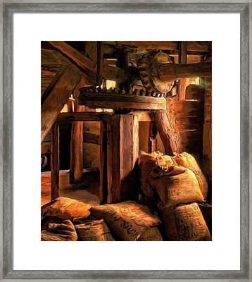 Inside The Old Mill Framed Print by Michael Pickett