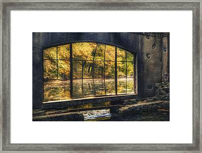 Inside The Old Spring House Framed Print