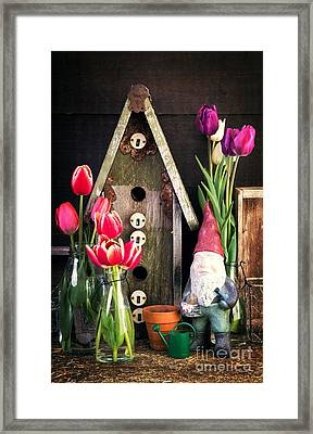 Inside The Potting Shed Framed Print by Edward Fielding