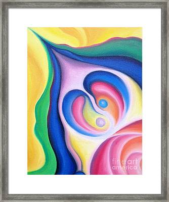 Inside The Revelry Of Like Minds Framed Print by Tiffany Davis-Rustam