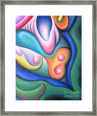 Inside The Revelry Of Motion Framed Print by Tiffany Davis-Rustam