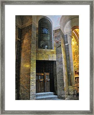 Inside The Rosary Basilica In Lourdes Framed Print by Graham Taylor
