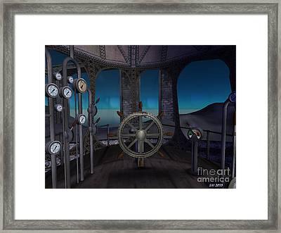 Framed Print featuring the digital art Inside The Ship by Susanne Baumann