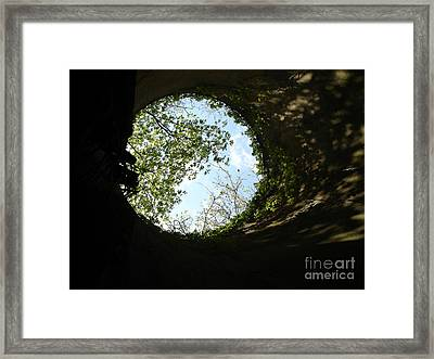Inside The Silo Framed Print
