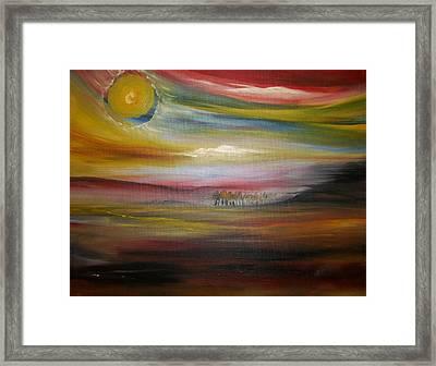 Inside The Sunset Framed Print by Jake Huenink