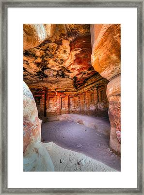 Inside The Tomb Framed Print by Alexey Stiop