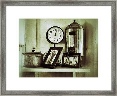 Inside The Whistle Stop Cafe Framed Print
