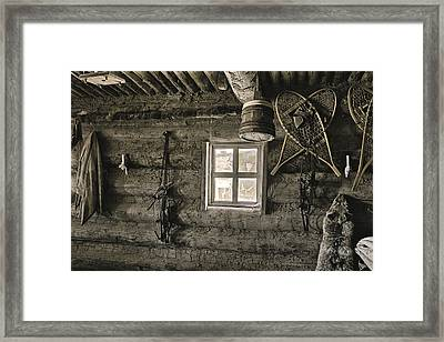 Framed Print featuring the photograph Inside Trading Post Montrose Co by James Steele