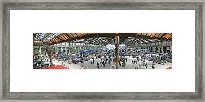 Inside Train Station, Nice, France Framed Print