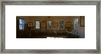 Inside View Of Slave Quarter, Middleton Framed Print