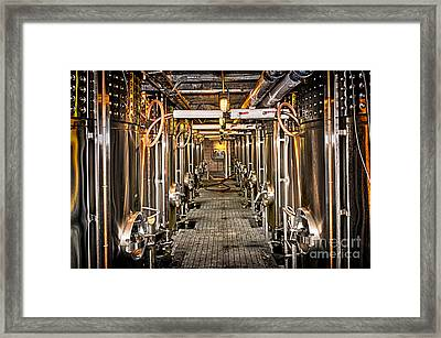 Inside Winery Framed Print