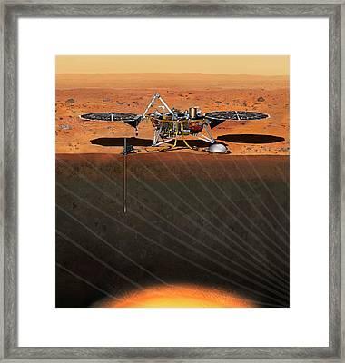 Insight Mars Lander Framed Print by Nasa/jpl-caltech