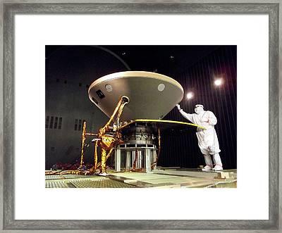 Insight Mars Lander Testing Framed Print by Nasa/jpl-caltech/lockheed Martin