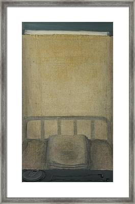 Insomnia - Lying On The Back Framed Print by Oni Kerrtu