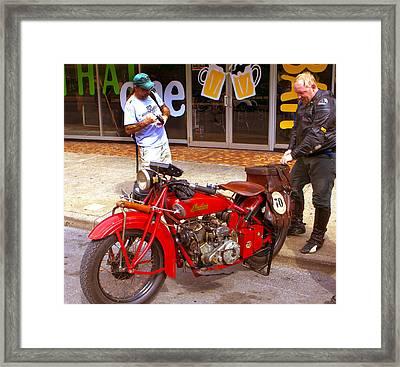 Inspecting Indian #70 Framed Print