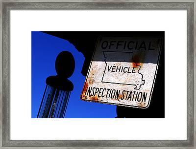 Inspection Station Framed Print