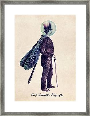 Inspector Dragonfly Framed Print by Eric Fan